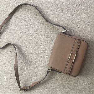 Target Faux Leather Brown Crossbody Purse